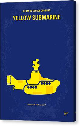 Graphic Canvas Print - No257 My Yellow Submarine Minimal Movie Poster by Chungkong Art