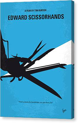 Johnny Depp Canvas Print - No260 My Scissorhands Minimal Movie Poster by Chungkong Art