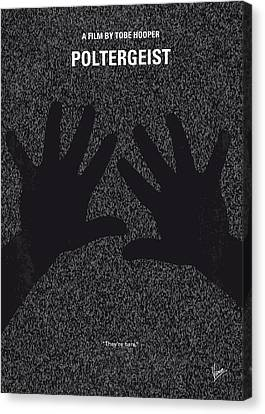 Evil Canvas Print - No266 My Poltergeist Minimal Movie Poster by Chungkong Art