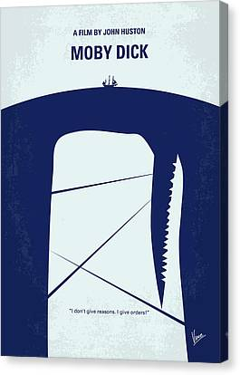 No267 My Moby Dick Minimal Movie Poster Canvas Print by Chungkong Art