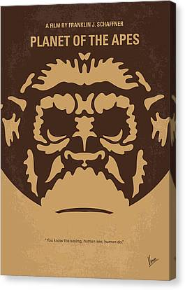 No270 My Planet Of The Apes Minimal Movie Poster Canvas Print by Chungkong Art
