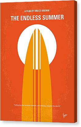 Orange Canvas Print - No274 My The Endless Summer Minimal Movie Poster by Chungkong Art