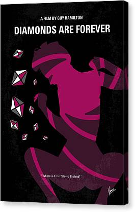 No277-007 My Diamonds Are Forever Minimal Movie Poster Canvas Print by Chungkong Art
