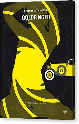 No277-007 My Goldfinger Minimal Movie Poster Canvas Print by Chungkong Art