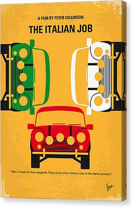 Hollywood Canvas Print - No279 My The Italian Job Minimal Movie Poster by Chungkong Art