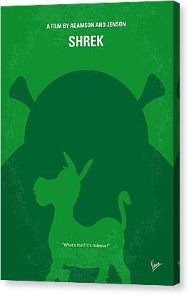 No280 My Shrek Minimal Movie Poster Canvas Print by Chungkong Art