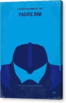 No306 My Pacific Rim Minimal Movie Poster Canvas Print by Chungkong Art
