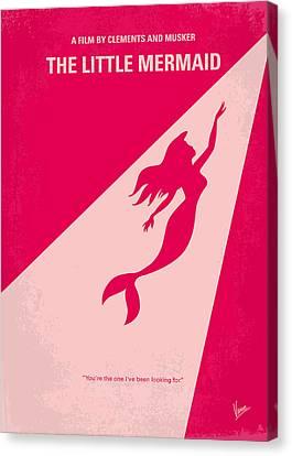 No314 My Mermaid Minimal Movie Poster Canvas Print