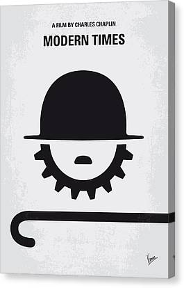 No325 My Modern Times Minimal Movie Poster Canvas Print