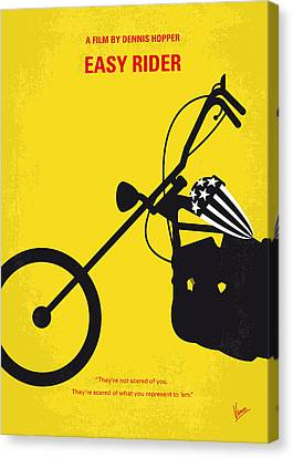 No333 My Easy Rider Minimal Movie Poster Canvas Print by Chungkong Art