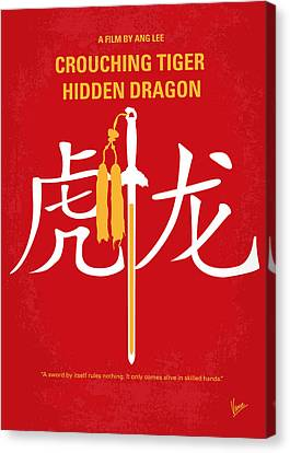 No334 My Crouching Tiger Hidden Dragon Minimal Movie Poster Canvas Print