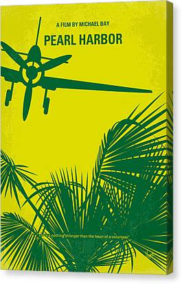 No335 My Pearl Harbor Minimal Movie Poster Canvas Print by Chungkong Art