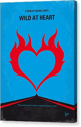 No337 My Wild At Heart Minimal Movie Poster Canvas Print