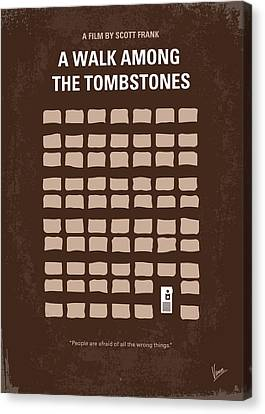 No341 My Walk Among The Tombstones Minimal Movie Poster Canvas Print by Chungkong Art