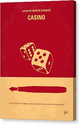 No348 My Casino Minimal Movie Poster Canvas Print