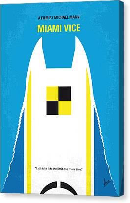 No351 My Miami Vice Minimal Movie Poster Canvas Print by Chungkong Art