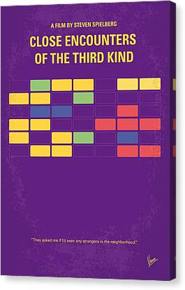 Note Canvas Print - No353 My Encounters Of The Third Kind Minimal Movie Poster by Chungkong Art