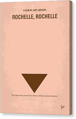 No354 My Rochelle Rochelle Minimal Movie Poster Canvas Print
