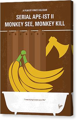 No356 My Serial Ape-ist Minimal Movie Poster Canvas Print