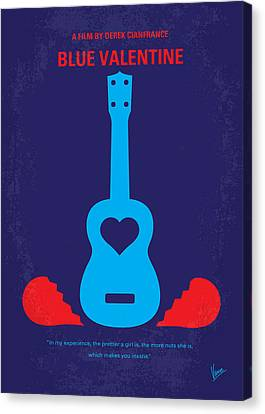 No379 My Blue Valentine Minimal Movie Poster Canvas Print