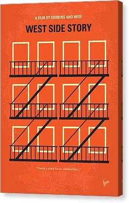 No387 My West Side Story Minimal Movie Poster Canvas Print by Chungkong Art