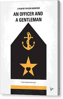 No388 My An Officer And A Gentleman Minimal Movie Poster Canvas Print by Chungkong Art