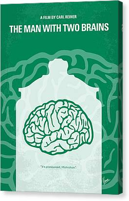 No390 My The Man With Two Brains Minimal Movie Poster Canvas Print