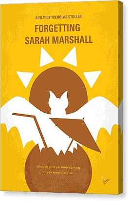 No393 My Forgetting Sarah Marshall Minimal Movie Poster Canvas Print