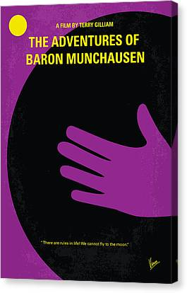 No399 My Baron Von Munchhausen Minimal Movie Poster Canvas Print by Chungkong Art