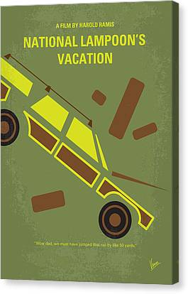 No412 My National Lampoons Vacation Minimal Movie Poster Canvas Print