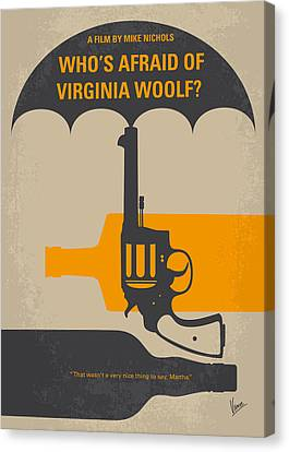 No426 My Whos Afraid Of Virginia Woolf Minimal Movie Poster Canvas Print by Chungkong Art