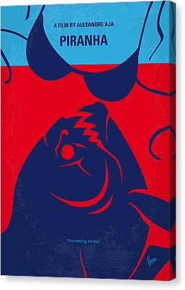 No433 My Piranha Minimal Movie Poster Canvas Print
