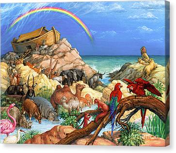 Noah And The Ark Canvas Print