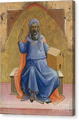 Noah By Lorenzo Monaco Canvas Print by MMA Gwynne Andrews Fund