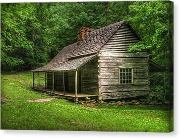 Noah Ogle Cabin Canvas Print by Cindy Haggerty