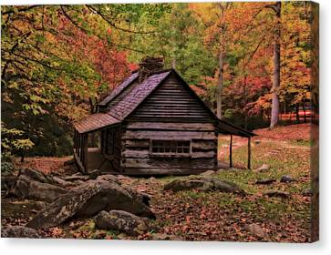 Gatlinburg Tennessee Canvas Print - Noah Ogle Place In The Smoky Mountains by Dan Sproul