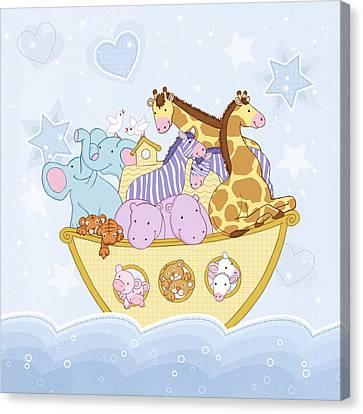 Noah's Ark Canvas Print by Amanda Francey