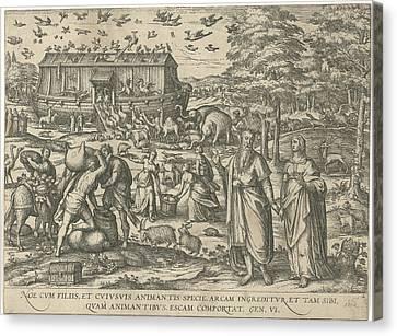 Noahs Ark, Attributed To Symon Novelanus Canvas Print by Symon Novelanus