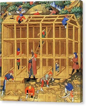 Noahs Ark Construction, 15th Century Canvas Print by Photo Researchers