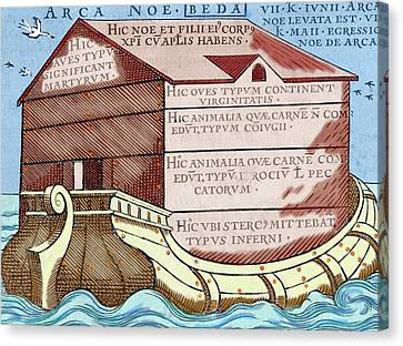 Noah's Ark, From The Book 'de Linguis Canvas Print