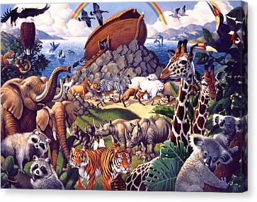 Noah's Ark Canvas Print by Mia Tavonatti