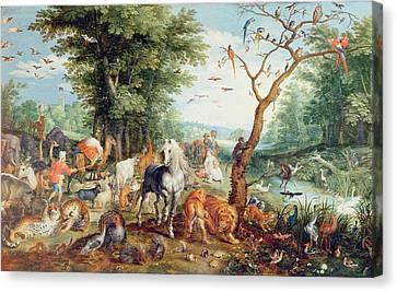 Noahs Ark Oil On Canvas Canvas Print by Jan Snellinck