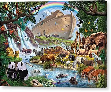 Squirrel Canvas Print - Noahs Ark - The Homecoming by Steve Crisp