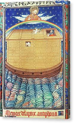 Noah's Ark With Rainbow Canvas Print by Granger