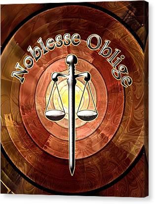 Noblesse Oblige Canvas Print by Anastasiya Malakhova