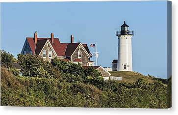 Nobska Lighthouse Woods Hole Cape Cod Ma Canvas Print by Marianne Campolongo