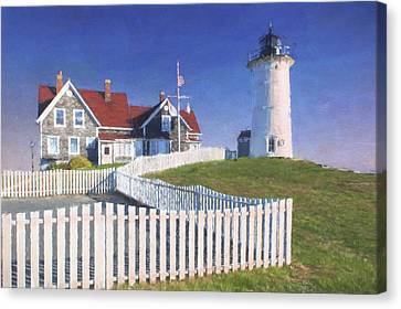 Nobska Point Lighthouse Canvas Print by Jean-Pierre Ducondi