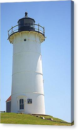 Canvas Print featuring the photograph Nobska Point Lighthouse Ma by Suzanne Powers