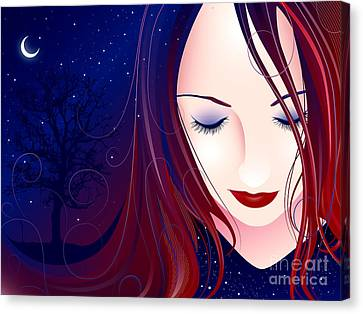 Nocturn II Canvas Print by Sandra Hoefer
