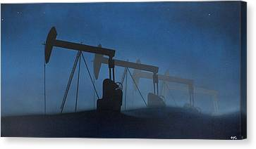 Nocturnal Donkeys Canvas Print